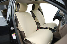 2 Front Car Seat Cover Cushions By Velour Compatible To Mitsubishi-MI 801 Tan