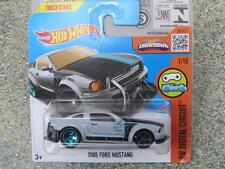 Hot Wheels 2016 #021/250 2005 FORD MUSTANG Gris HW Circuito Digital Caja K