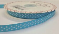 3m Bertie's Bows Turquoise with White Polka Dot 9mm Grosgrain Ribbon, Gift Wrap