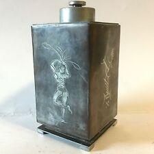 Vintage 20th Century Design Gross & Christensen Denmark Metallurg Tea Caddy