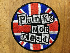 Punks Not Dead Sew On Patch Iron Embroidered Punk Rock Band The Exploited Music