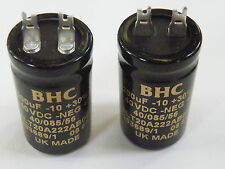 2x Can Electrolytic CapacitorBHC 2200uF 40V  Hi Quality EF15