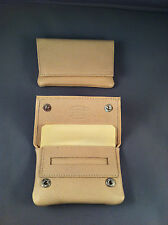 SMALL / MINIATURE GBD Leather Tobacco Cigarette Rolling Pouch- Bone / Cream