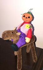 "DEB CANHAM'S ""PUMPKIN HEAD ON HORSEBACK"" MULTI-FABRIC -HALLOWEEN--OZ   6"""