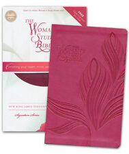 NKJV The Woman's Study Bible Personal-Size---soft leather-look, cranberry
