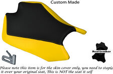 BLACK & YELLOW LEATHER CUSTOM FITS APRILIA RSV4 R 1000 09-15 RIDER SEAT COVER
