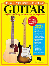 Teach Yourself to Play Guitar Beginner Lessons Tab Hal Leonard Book NEW