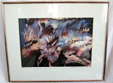 """Victor WW Stevens 'Ceremony' SIGNED Abstract Horse Lithograph 21"""" x 16.75"""" Print"""