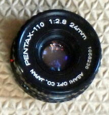 Pentax Auto 110 24mm/f2.8 Lens - Manual Focus -  PLEASE READ DESCRIPTION