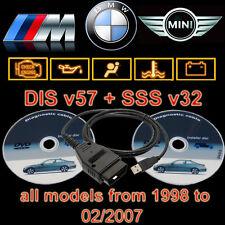 BMW USB OBD Diagnostic cable INPA Ediabas NcsExpert DIS v57 SSS v32 Progman GT1