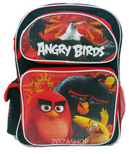 "Angry Birds 16"" Large Boy Backpack New School Bag New Red Bird"