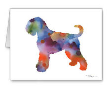 Black Russian Terrier Note Cards With Envelopes