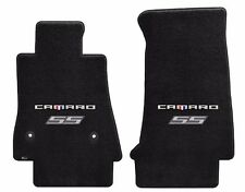 NEW! Black Carpet Floor Mats 2016-2017 Camaro Embroidered SS Double Logo Silver