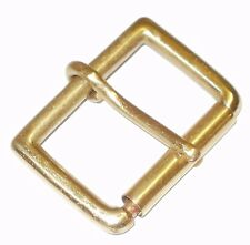 "SOLID BRASS SINGLE ROLLER BELT BUCKLE 1 3/4"" INCH - 45MM"