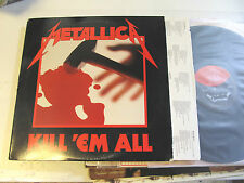 METALLICA Kill 'Em All LP elektra original '83 1A/1A etches! e160766 rare vinyl!
