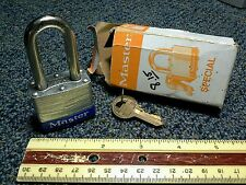 Vintage USA Master Lock No.3 Special Key# 3978 Padlock New In Box