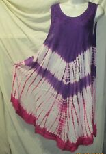 Women Umbrella Dress Ladies Summer  Tie Dye embroidery free size 50