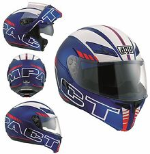 CASCO MOTO MODULARE  AGV COMPACT MULTI SEATTLE MATT BLU BIANCO RED GRAFICA TG XS