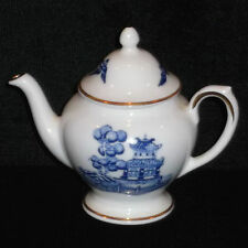 DISCONTINUED COALPORT BLUE WILLOW PATTERN MINI/MINIATURE TEAPOT NEW