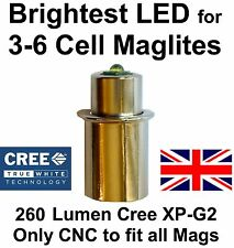 MAGLITE LED UPGRADE Conversion Bulb 3 4 6 D/C Cell CREE XP-G2 Torch Flashlight