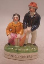 Staffordshire Pottery Figure - 'The Cricketers' - Cricket Interest Gift