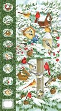"Winter Birds Cardinal Northcott Christmas Quilt Fabric 23"" x 44"""