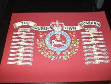 THE QUEENS OWN HUSSARS BATTLE HONOURS PRINT A4
