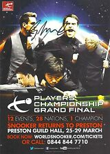 Snooker Players Championship Grand Final Flyer. Signed by Gary Wilson.