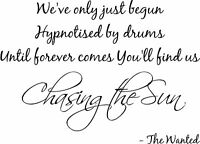 THE WANTED SP MUSIC LYRICS WALL QUOTE CHILDRENS WALL ART VINYL STICKER HOME DIY