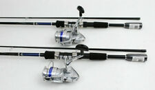 2 Daiwa Shock 2500-2B Spin Fishing Reels, 6.5ft Rods NEW