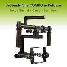 """★ TOP ★ """" BeSteady One COMBO """" 3-Axis Camera Gimbal Steadycam + Case"""