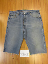 "Levi used 501 high waisted cut off shorts USATag 40"" Meas 38"" Inseam 15.5"" 9800R"