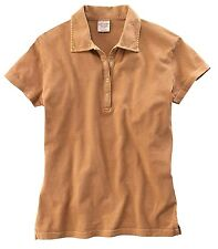 Lot of 20 Desert Wash Camel Brown Polo Golf Shirt w/Cap Sleeves in Size Large