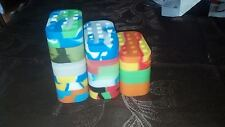 Lot of 5 - 6+1 silicone jar nonstick container