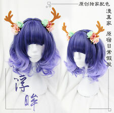 Japanese Harajuku Sweet Lolita Purple Gradient Cute Daily Cosplay Princess Wig