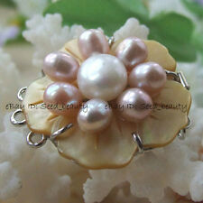 Natural MOP/Shell Genuine Pearl Jewelry Clasp 32mm