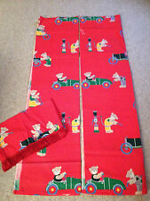 Teddybear Teddy Bear Themed Curtains With Lampshade Cover (C)