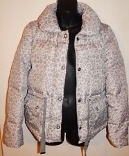 REBECCA TAYLOR WOMENS PUFFER JACKET SNOW LEOPARD sz S NEW$595 AUTHENTIC