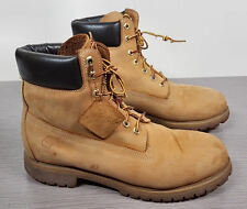 "Timberland Premium 6"" Lace Up Boot Gold Leather Mens Size 9.5 M"