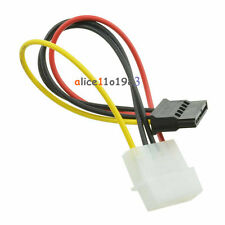 2Pcs Male Female 4-pin Power Drive Adapter Cable to Molex IDE SATA 15-pin
