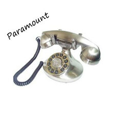 Paramount Alexis 1922 Reproduction Antique Decorator Corded Home Phone Silver