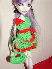 Monster High Doll Clothes Mini Dress Purse Accessories Crocheted Costume Outfit