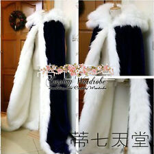 Fate Stay Night Saber Cosplay Costume Cape Blue Knight Nero Fox fur