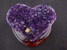 """Uruguayan Amethyst Quartz Crystal """"HEART"""" with Polished Trim"""