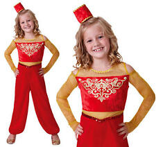Childrens Arabian Princess Fancy Dress Costume Genie Aladdin Girls Outfit M