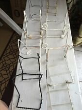 19 Display EASEL Collector Plate Stand Seashell Stands + NIP Plate Holders