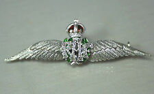 Superb Antique Regimental 14ct Gold Diamond & Enamel RAF Wings Sweetheart Brooch