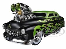 "1949 MERCURY COUPE BLACK W/FLAMES ""MUSCLE MACHINES"" 1/18 BY MAISTO 32214"