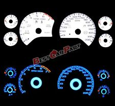 White 97-04 Chevy Corvette C5 INDIGLO GLOW BLUE REVERSE EL GLOW GAUGE KIT