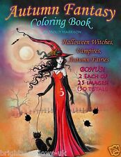Autumn Fantasy Halloween Adult Colouring Book Witches Vampires Fairies Mystical